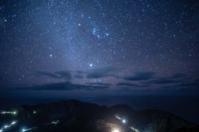 青ヶ島大凸部の星空